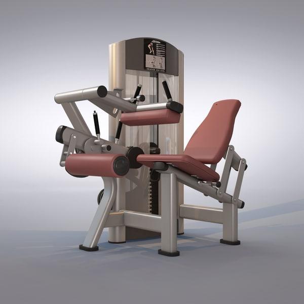 seated leg curl machine max