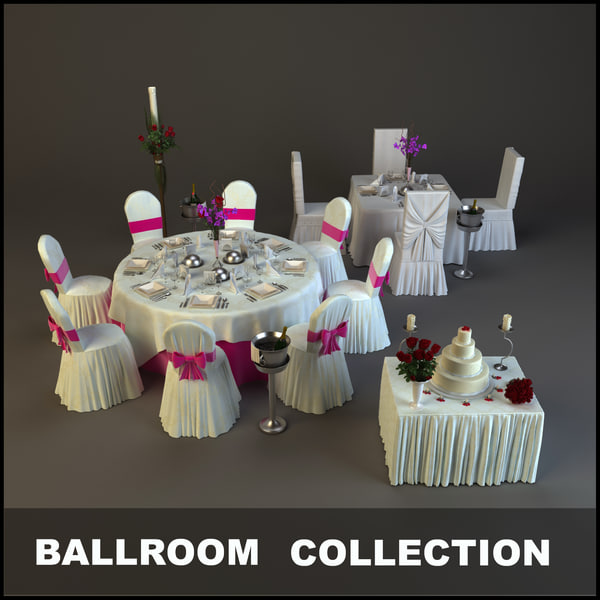 ballrooms wedding table 3d model