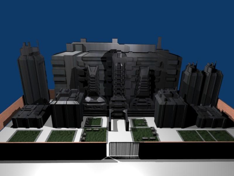 ciudad 3d blend