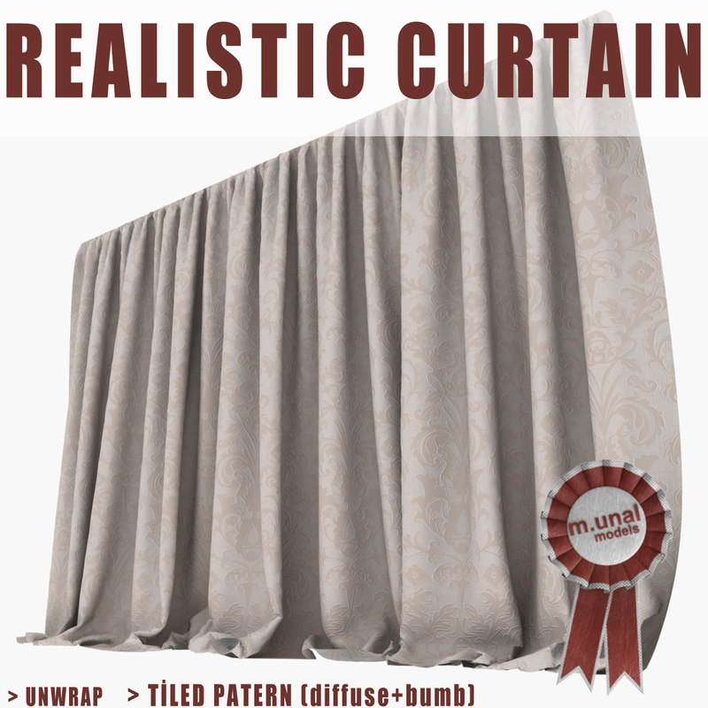 3d realistic curtain model