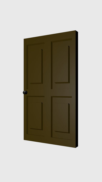 simple door 3d blend