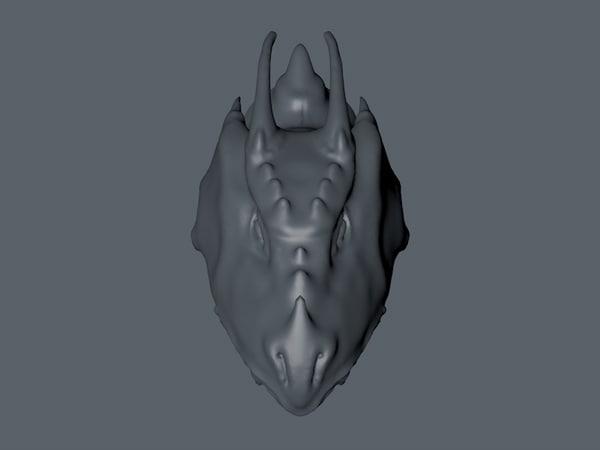 3d model dragon head