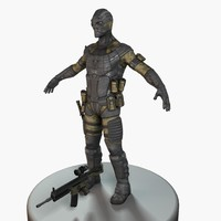 3d model of future soldier