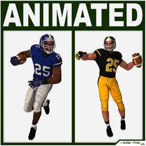 team player american football 3d max