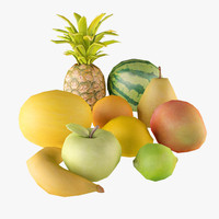 Low Poly fruits Collection
