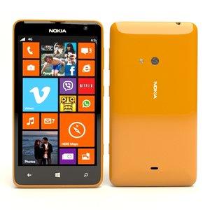 nokia lumia 625 orange 3d max