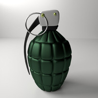 3d model hand grenade
