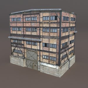 3d derelict building exterior