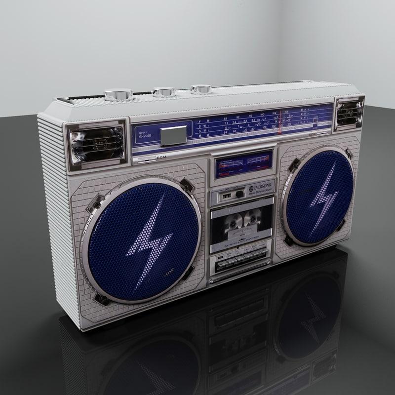 3d model boom box