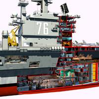 CVN76 Aircraft Carrier Cutaway