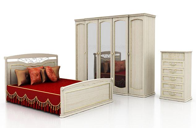 3d model luigi bedroom furniture