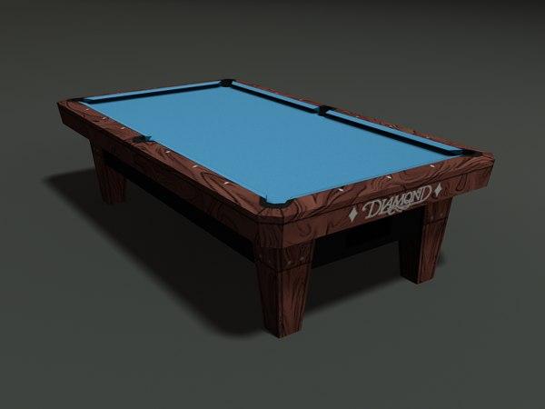 diamond pool table 3d model