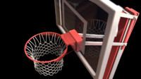 Basketball hoop with net