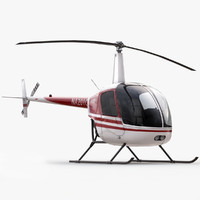 3d model robinson r22 helicopter