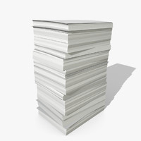 3d stack papers model