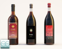 three bottle wine