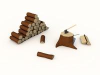 cinema4d looking wood pile