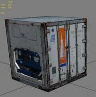 3d white industrial container
