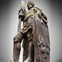 Knight statue medium