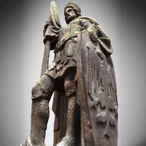 statue knight 3d obj