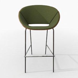 photorealistic lipse chair 3d max
