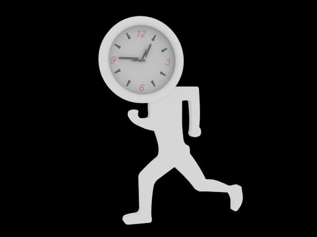 decorative clock 3d max