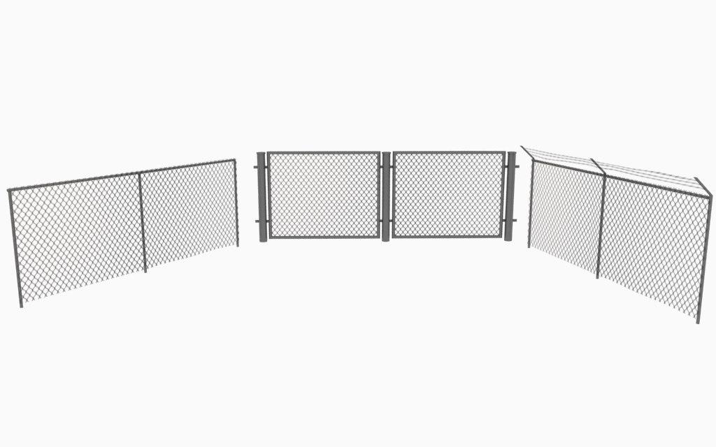 fence metal obj