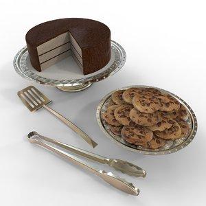 maya cake cookies serving trays