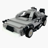 Delorean Lego Back to the future