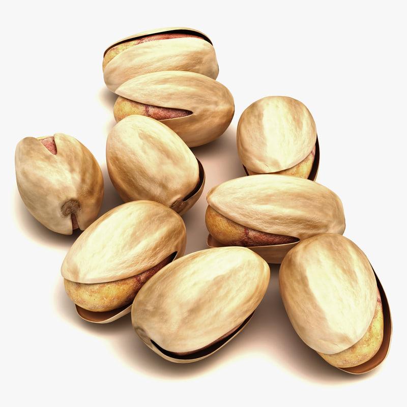 pistachio nut modeled 3d model