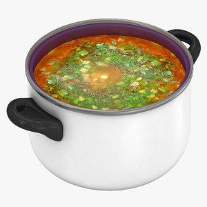 3d c4d pot soup 2