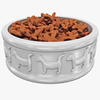 c4d cat food bowl