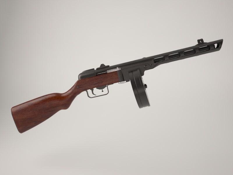soviet ic pistol 3d model