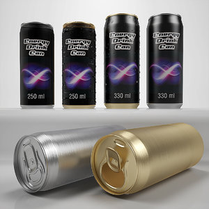 3d model beer soda cans 250