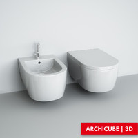 3d wc bidet wall-mounted