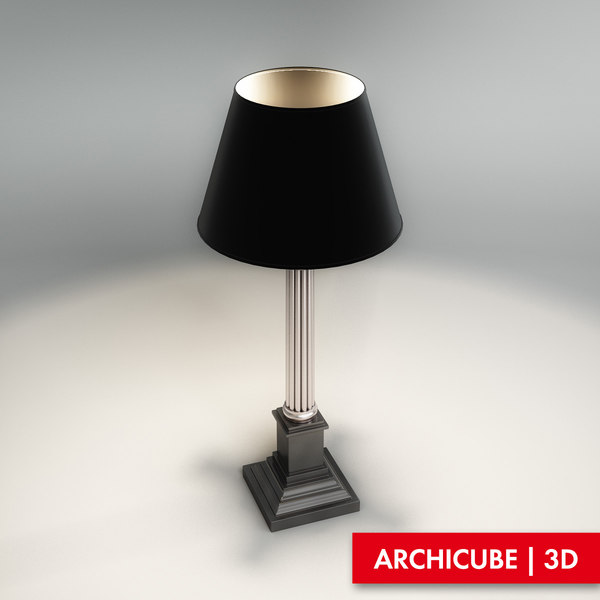 3ds max table-lamp reading-lamp