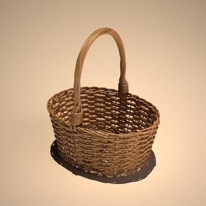 3d model cane picnic basket