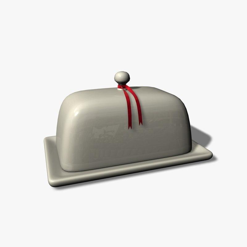 c4d butter dish