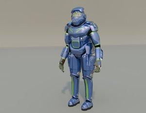 character commander frog fantasy 3d max