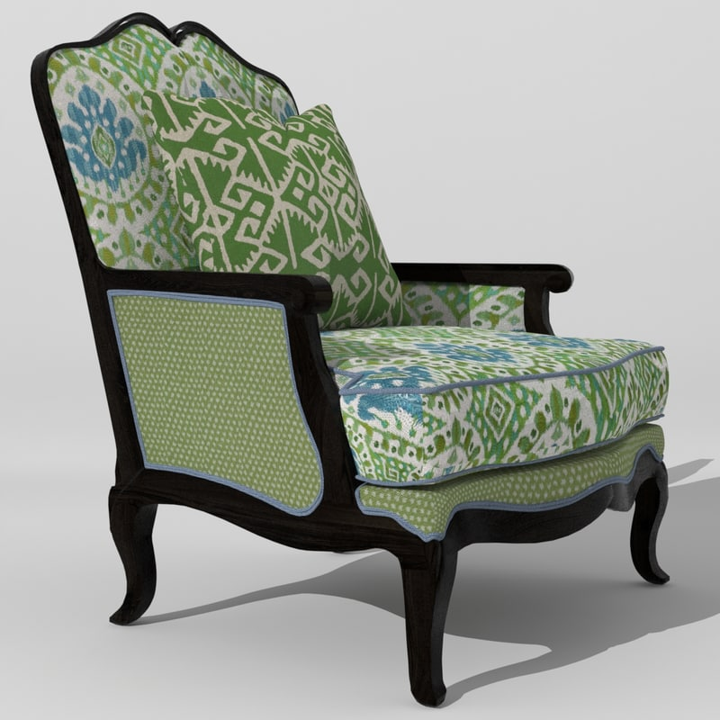 3ds max fully classic armchair