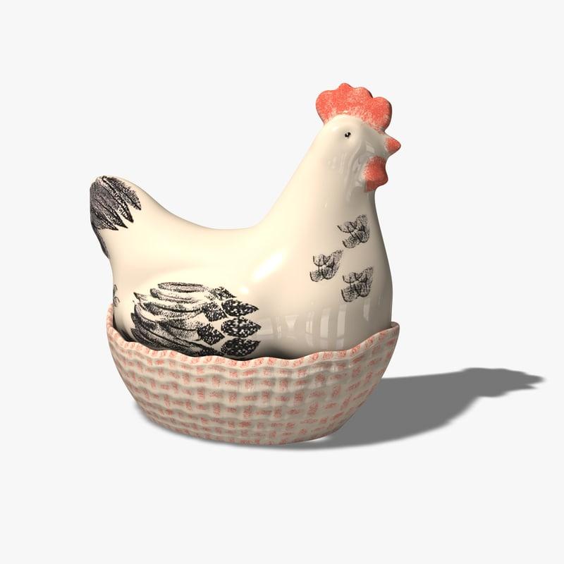 c4d chicken basket