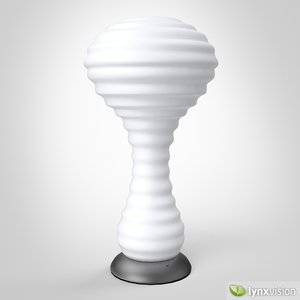 3d model new wave table lamp