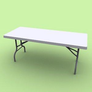 3d folding table