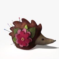 hedgehog pin cushion 3d model