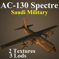 ac-130 spectre military sau 3d model