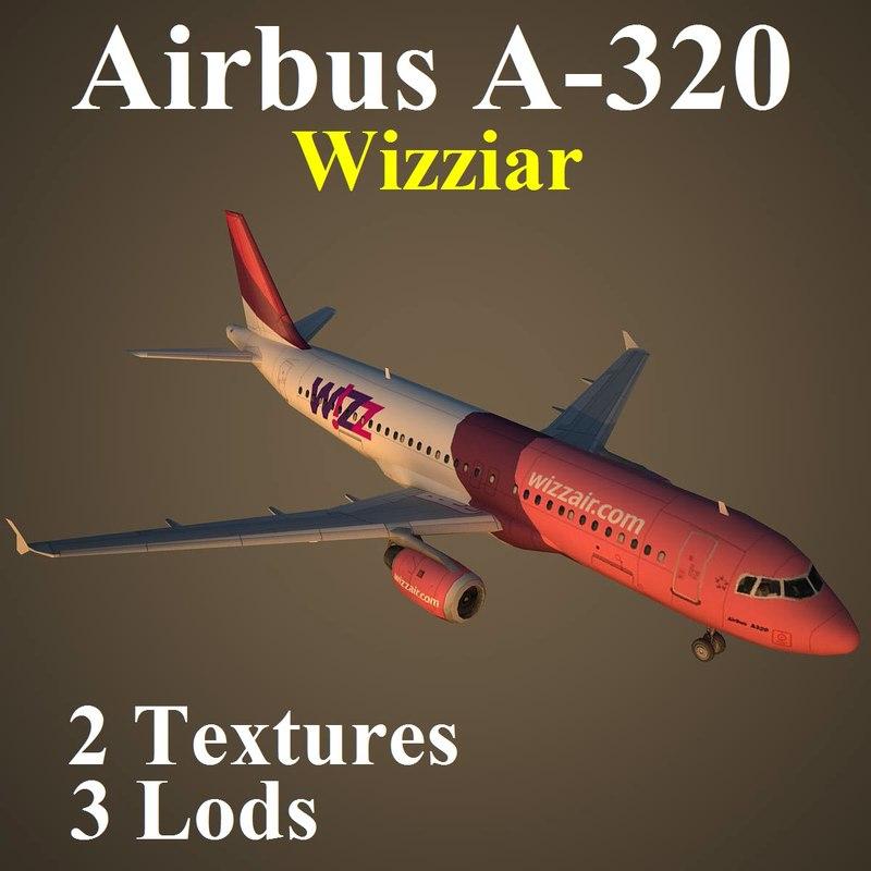 airbus wiz 3d max