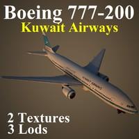 boeing 777-200 kac 3d model
