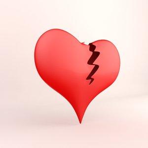 love heart broken 3d model