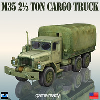 3ds max military truck m35 2½