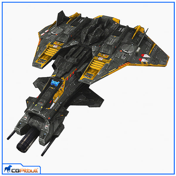 3d scifi fighter s4 polys